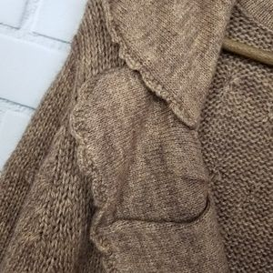One Girl Who Sweaters - One Girl Who Brown 3/4 Sleeve Button Up Cardigan